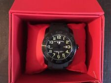 NWT Swiss Legend Men's 10068-017 Commander II Swiss Quartz Black Watch