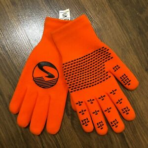 NEW Showers Pass Crosspoint Waterproof Knit Wool Cycling Gloves - Orange X-Large