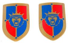2 x chevalier au lion armoiries panneaux doré C Playmobil à Château-Fort Garde