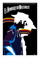 "Cuban decor Graphic Design movie Poster""Man from Maisinicu""Cuba rainbow art film"
