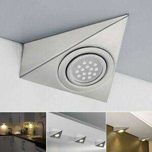 LED MAINS TRIANGLE LIGHT KITCHEN UNDER CABINET CUPBOARD 240V NO DRIVER REQUIRED