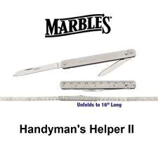 "Marble's Handyman's Helper II 16"" Knife - Ruler - Tool"