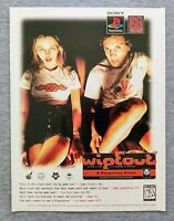 Wipeout PS1 Playstation PC | 1996 Vintage Game Print Ad Poster Art Official RARE