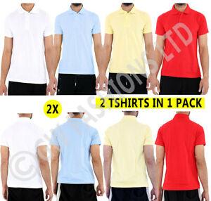 2x Boys Plain Polo T-Shirt School Shirts Uniform PE Kids Short Sleeve Tops Shirt