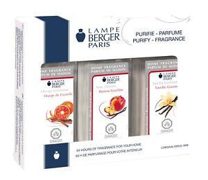 Lampe Berger Fragrance Oil Trio Pack Orange Cinnamon New Orleans Vanilla Gourmet