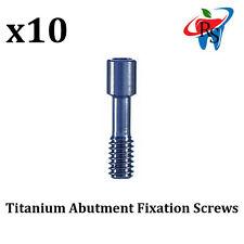 10 x Dental Implant Titanium Abutment Fixation Screw Screws Internal Hex Blue