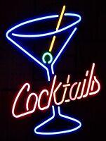 Neon Cocktail Retro metal Aluminium Vintage Sign Bar Pub Club Man Cave