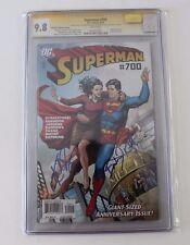 CGC Graded 9.8 Superman No. 700  Signed B Routh, K Bosworth, Celeb. Authentics