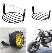"1PCS 7"" Retro Vintage Metal Mesh Lattice Grill Motorcycle Headlight Cover Black"