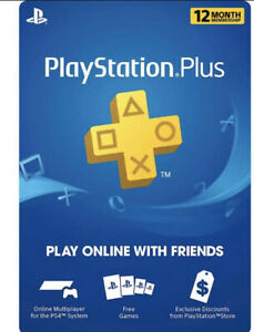 PlayStation Plus 12 Month / 1 Year Subscription Code FREE SHIPPING MAILED USPS