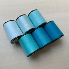 Blue Color shades 6 Spools Sewing Thread All Purpose Spun Polyester 600 Yards