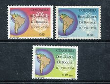 Colombia 766-767, C488, MNH, Map of South America & Arms 1967. x23034