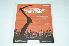 CHILDREN OF THE CORN Stephen King's Video Disc CED 1984 Movie Film VideoDisc