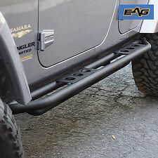 2007-2018 Jeep JK Wrangler 4 Door Black Textured Tubular Nerf Running Board