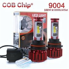 9004 LED 120W Light Headlight Kit 12000LM High/Low Beam White 8000K CANBUS