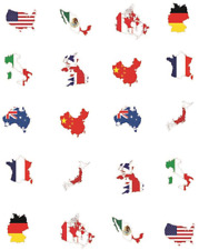 Flags of the World Waterslide Nail Decals