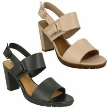 Buckle High Heel (3-4.5 in.) 100% Leather Sandals for Women