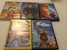 5 DVD Bundle Job Lot Up Lion King Mary Poppins Fievel Frog Disney Spielberg