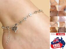 Silver Gold Turquoise Beads Chain Bracelet Foot Beach Anklet Ankle Feet Jewelry