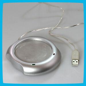 USB Silver Mug Warmer Gadget - Keep Coffee And Tea Warm