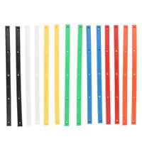 2pcs Skateboard Rails Edge Protector Longboard Rib Strip With 10 Mount Screw
