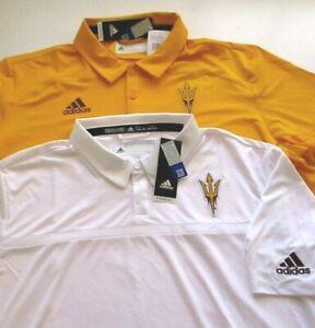 New NWT Mens Adidas ASU Arizona St Sun Devils Sideline polo Golf Coaches shirt