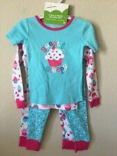 NWT Jumping Bean Pink Blue Cupcake 2 Mix & Match Pajama Sets, Size 24M
