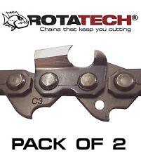 """X2 (due) 16"""" Autentico rotatech MOTOSEGA SAW CHAIN Si Adatta Bosch AKE40-19S AK40 19 S"""