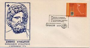 Int. Congress on Psychiatry Health Medical Medicine Lamp Special Cover Greece