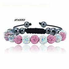 Crystal Sparkle Bracelet Pink Light/White Disco
