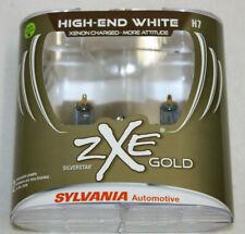 Sylvania Silverstar ZXE GOLD H7 Pair Set Headlight 2 Bulbs Xenon Fueled NEW