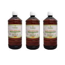 Aloe Vera Saft 3 x 1 Liter - Aloe Barbadensis Miller - 99,7% Reinheit  - LaVita