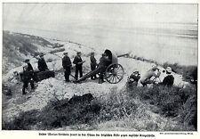 Belgien Westfront Marine-Artillerie feuert auf englische Kriegsschiffe 1914  WW1