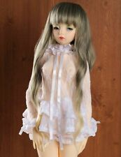 "New 9-10"" 1/3 BJD Hair SD doll wig Super Dollfie long Curly gray gold Kanekalon"