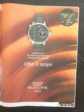 6/2003 PUB GLYCINE AIRMAN SWISS WATCH MONTRE ACRON ORIGINAL ITALIAN AD