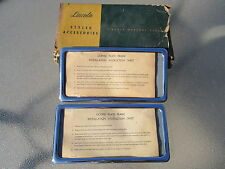 LINCOLN MERCURY FORD NOS LICENSE PLATE FRAME FRAMES (PAIR) 1950s 1960s