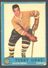 1962 63 TOPPS HOCKEY 20 TERRY GRAY BOSTON BRUINS CARD