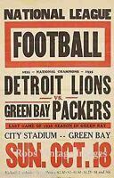 Detroit Lions Vs Green Bay Packers Football Poster 1936 NFL Vintage NFL print