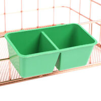 5pcs 2 in 1 Parrot Food Water Bowl Dual Feeding Cup Plastic Pigeons CageDAD