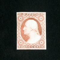 US Stamps # 11 VF Choice 4-margin dist OG H Scott Value $275.00