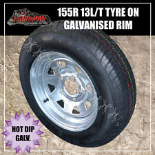 13 x 4.5 155 HT Sunraysia Wheel Rim and Tyre Galvanised Trailer Caravan Boat