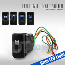 4X Blue Light Fog LED 12V 20A 10A 4-pin Rocker Toggle Switch Car Boat Waterproof