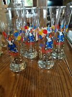 Vintage 1987 Set of 4 Bud Light Spuds Mackenzie 12oz Party Pilsner Glasses