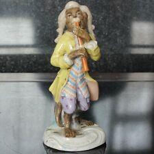 Dresden Germany Porcelain Monkey Band Clarinet Player Figurine