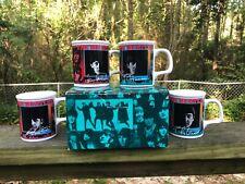 Beatles complete 4 coffee mug set w/box. 1991 Apple Corps, New, never used.
