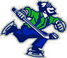 "Vancouver Canucks Johnny Canuck NHL Hockey bumper sticker, vinyl decal, 5""x 4.5"""