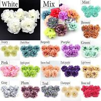 50Pc 11cm Silk Peony Rose Artificial Silk flower Head Craft Wedding Bouquet Make