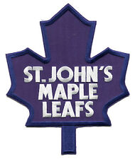 ST. JOHN'S MAPLE LEAFS AHL HOCKEY BLUE FRONT PATCH FOR HOME WHITE JERSEY