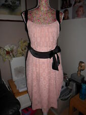ARROGANT CAT PRETTY PEACH DRESS IDEAL FOR A WEDDING OR SPECIAL DAY SIZE 10