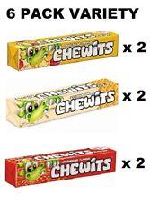 CHEWITS VARIETY PACK - 6 x 30g PACKS - FRUIT SALAD - ICE CREAM - STRAWBERRY